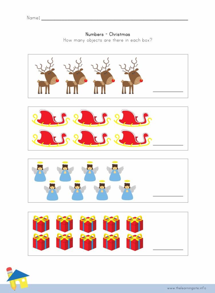 Christmas Number Worksheet 2