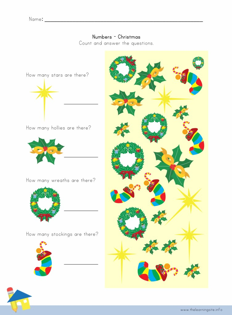 Christmas Number Worksheet 3