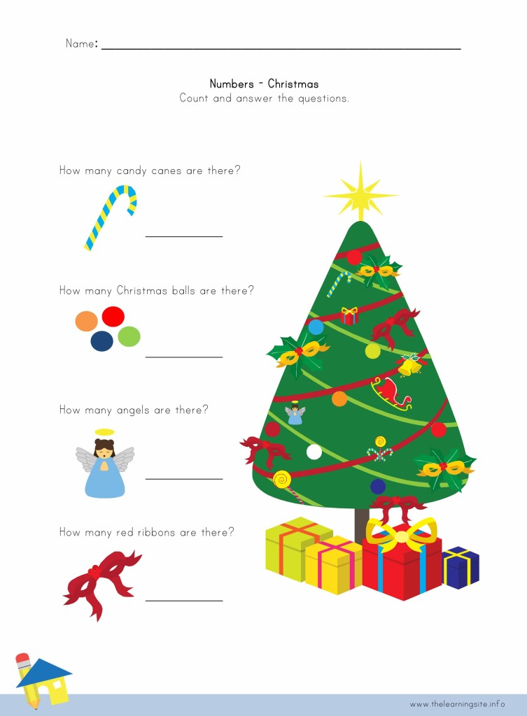 Christmas Number Worksheet 4