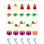 Christmas Similar and Different Worksheet 1