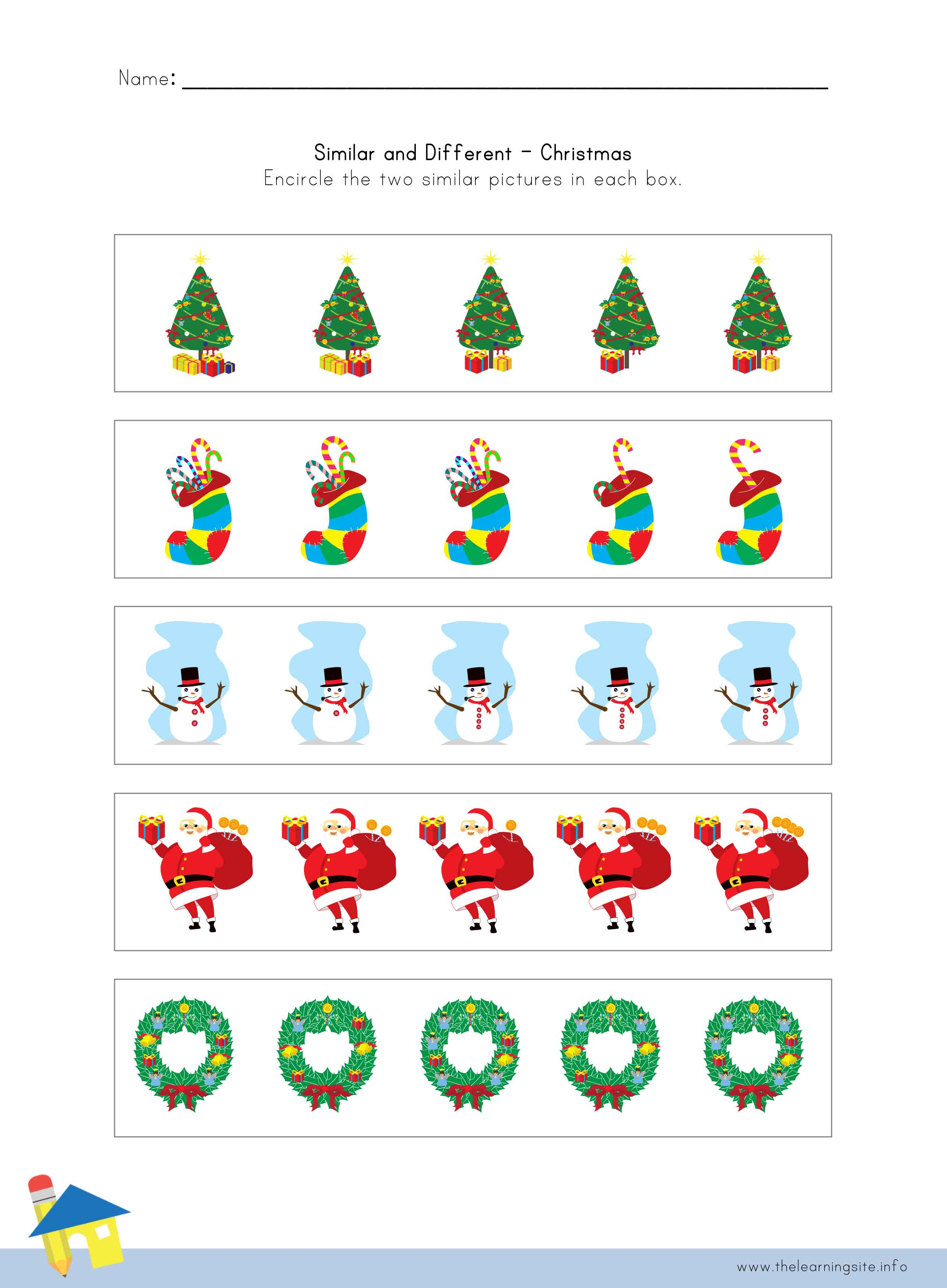 worksheet Which Is Different Worksheet the learning site christmas similar and different worksheet 3