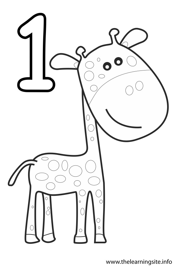 coloring-page-number-outline-one-giraffe