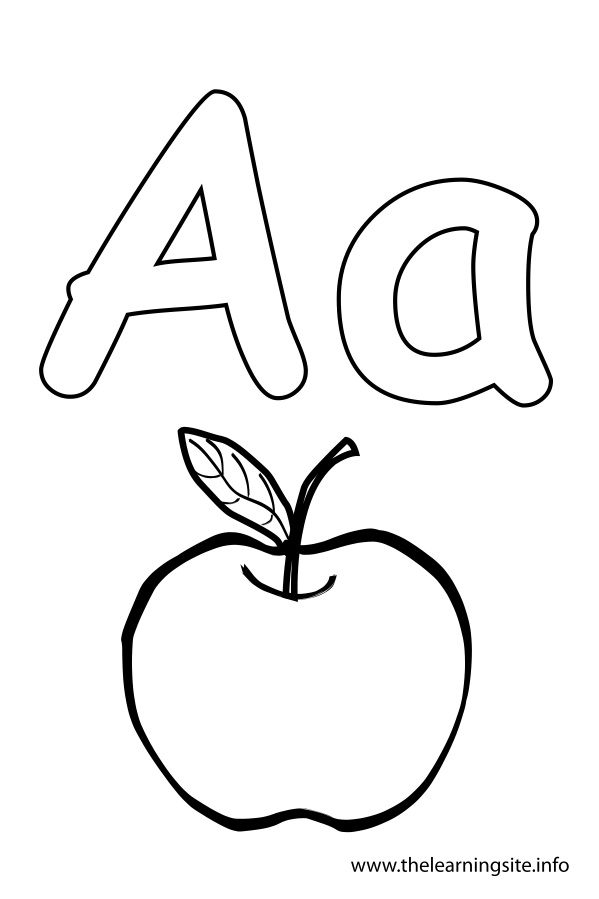 coloring-page-outline-alphabet-letter-a-apple