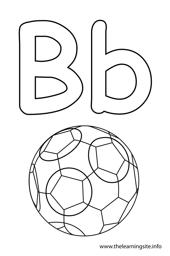 b coloring page - the learning site