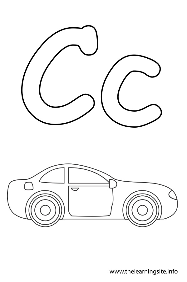 coloring-page-outline-alphabet-letter-c-car