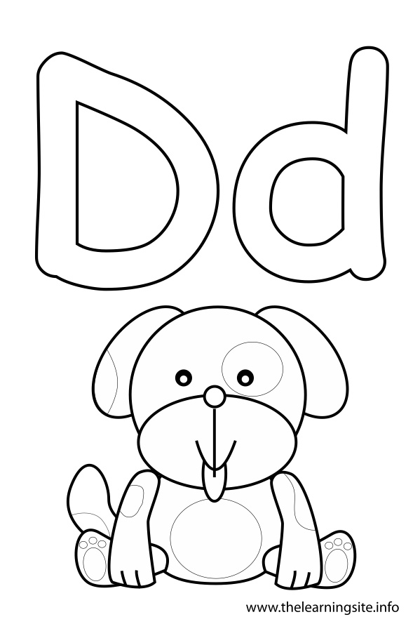 letter d coloring pages preschool black | The Learning Site