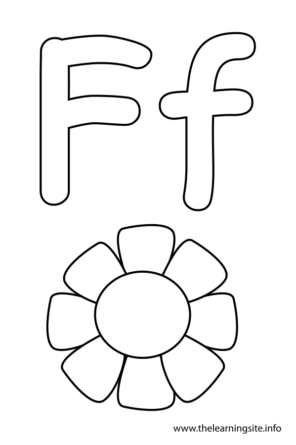 coloring-page-outline-alphabet-letter-f-flower