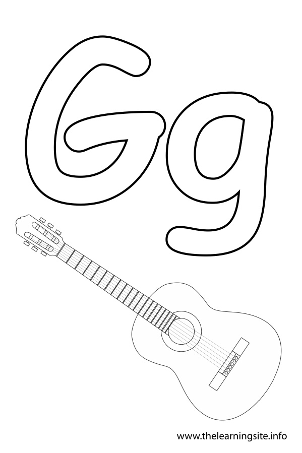 coloring-page-outline-alphabet-letter-g-guitar