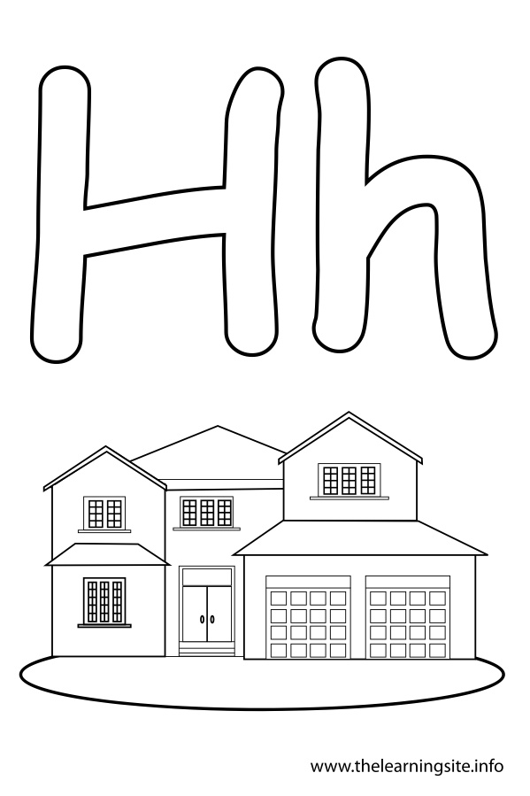 coloring-page-outline-alphabet-letter-h-house
