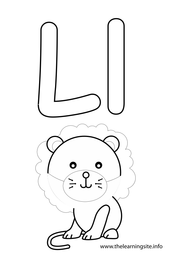 coloring-page-outline-alphabet-letter-l-lion