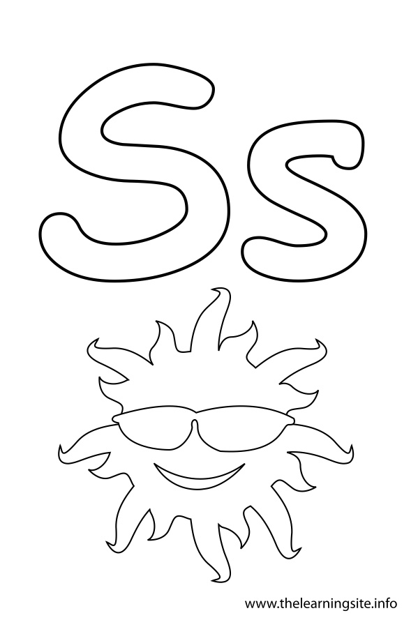 coloring-page-outline-alphabet-letter-s-sun