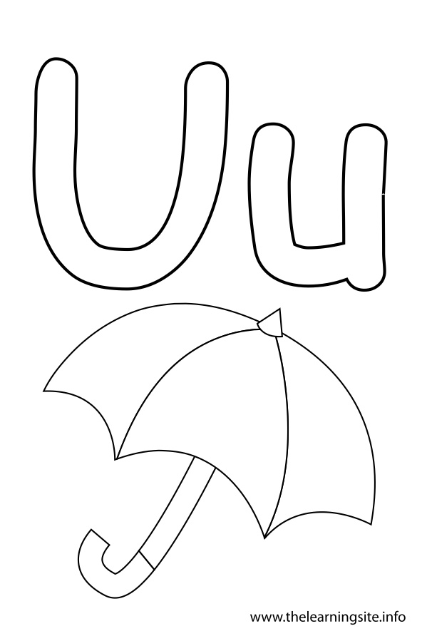 alphabet u coloring pages - photo#20