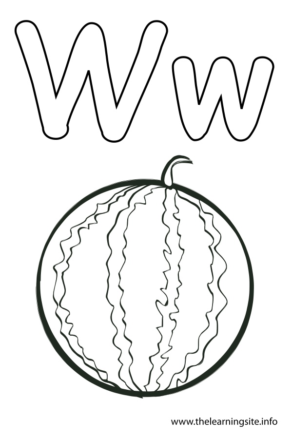 coloring-page-outline-alphabet-letter-w-watermelon