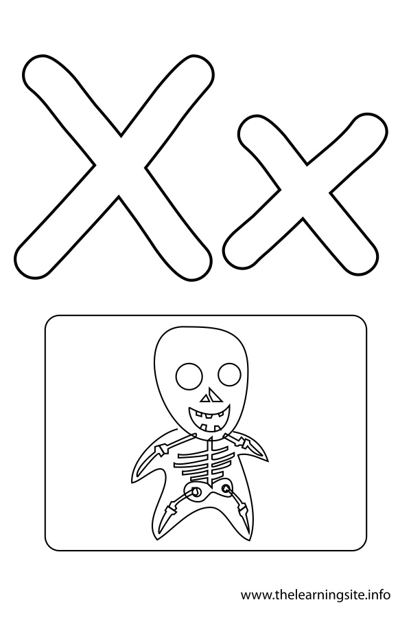 coloring-page-outline-alphabet-letter-x-xray