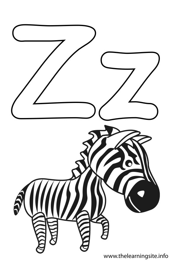 affordable with letter z coloring pages