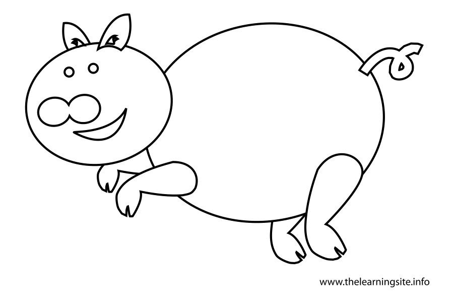 coloring-page-outline-animals-pig