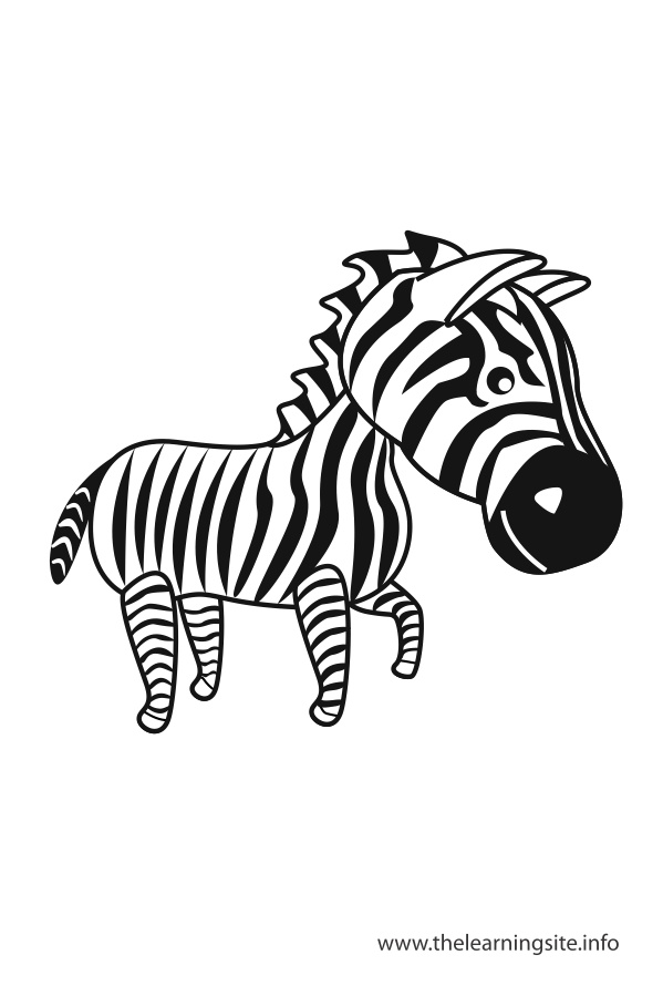 coloring-page-outline-animals-zebra