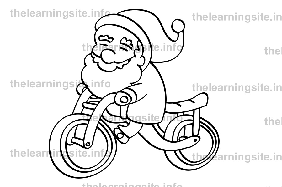 coloring-page-outline-christmas-santa-bicycle-sample