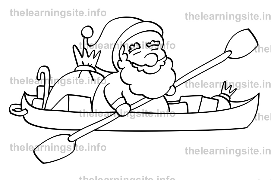 coloring-page-outline-christmas-santa-canoe-sample