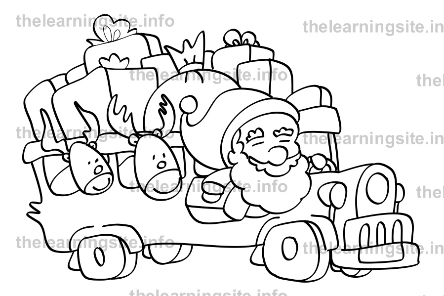 coloring-page-outline-christmas-santa-jeep-sample