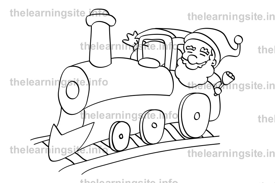 coloring-page-outline-christmas-santa-train-sample
