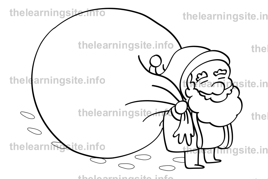 coloring-page-outline-christmas-santa-walking-sample
