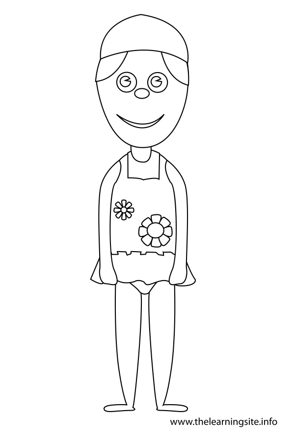 coloring-page-outline-girl-in-a-swimsuit