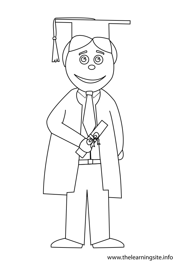 coloring-page-outline-graduation-boy-toga-diploma2
