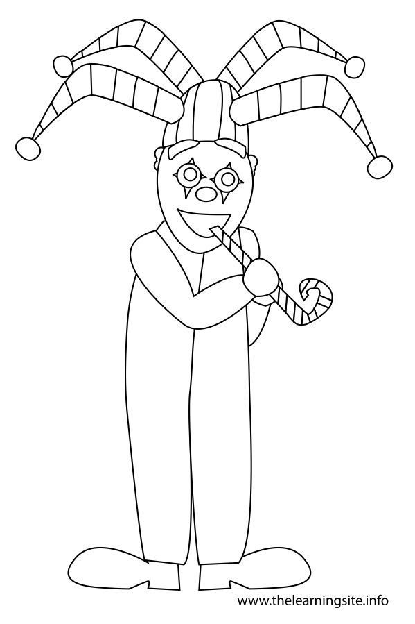 coloring-page-outline-jester-clown
