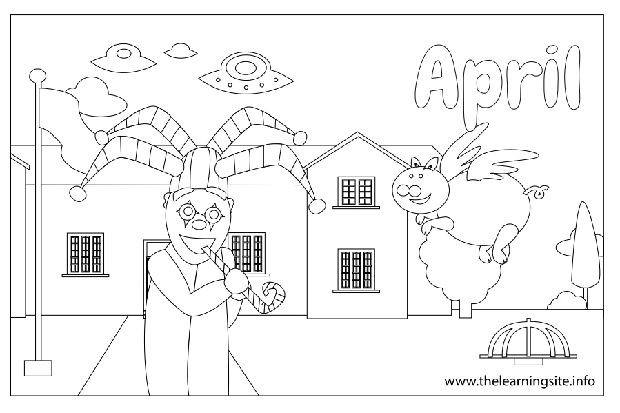 coloring-page-outline-months-april