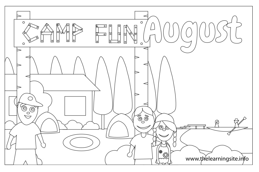 coloring pages for august - photo#21