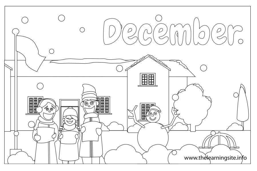 coloring-page-outline-months-december