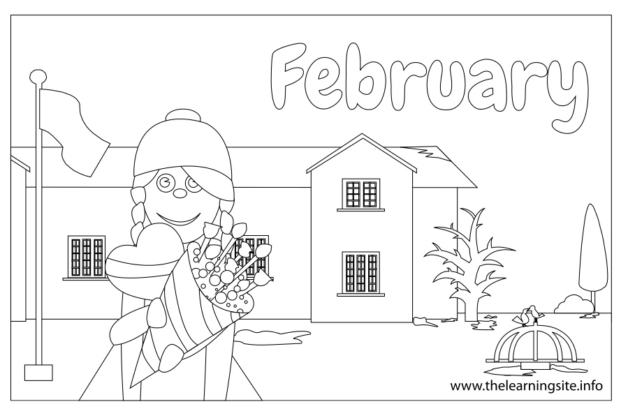 coloring-page-outline-months-february