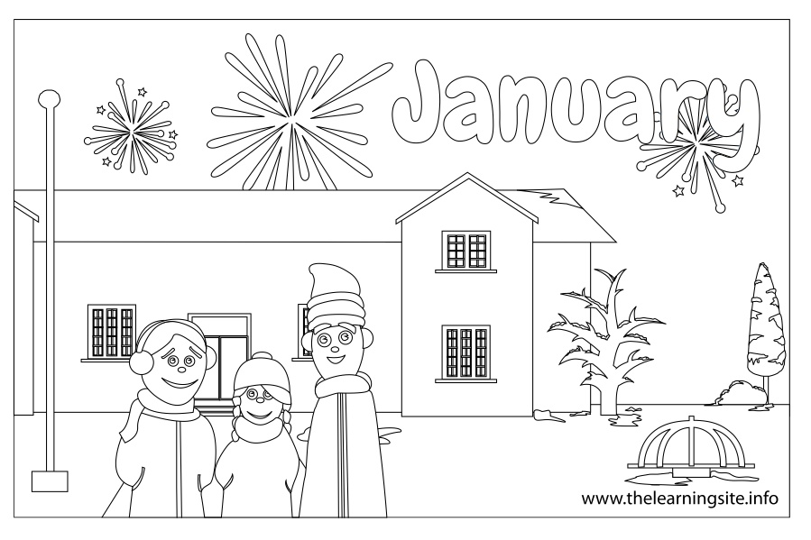 January Coloring Page 21 Photo Gallery
