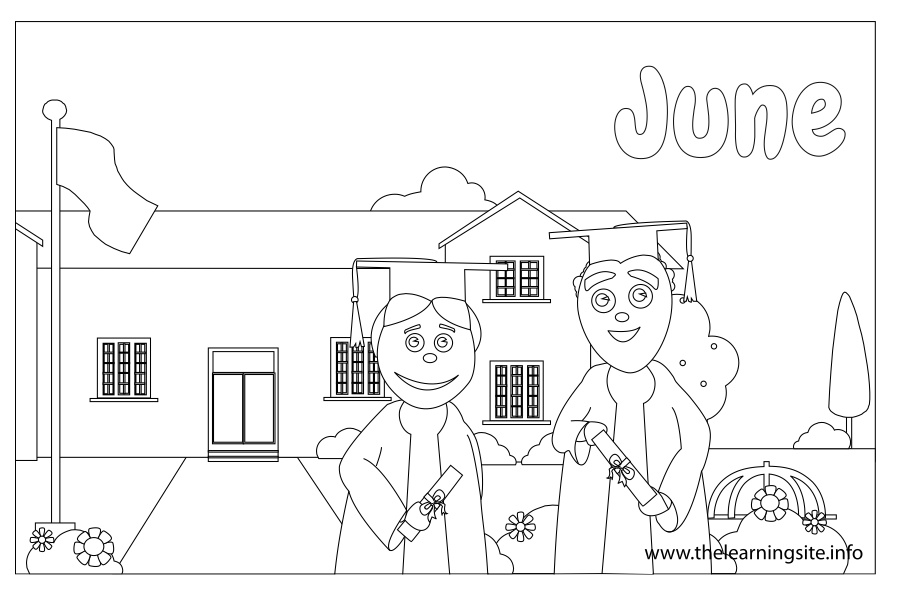 coloring-page-outline-months-june