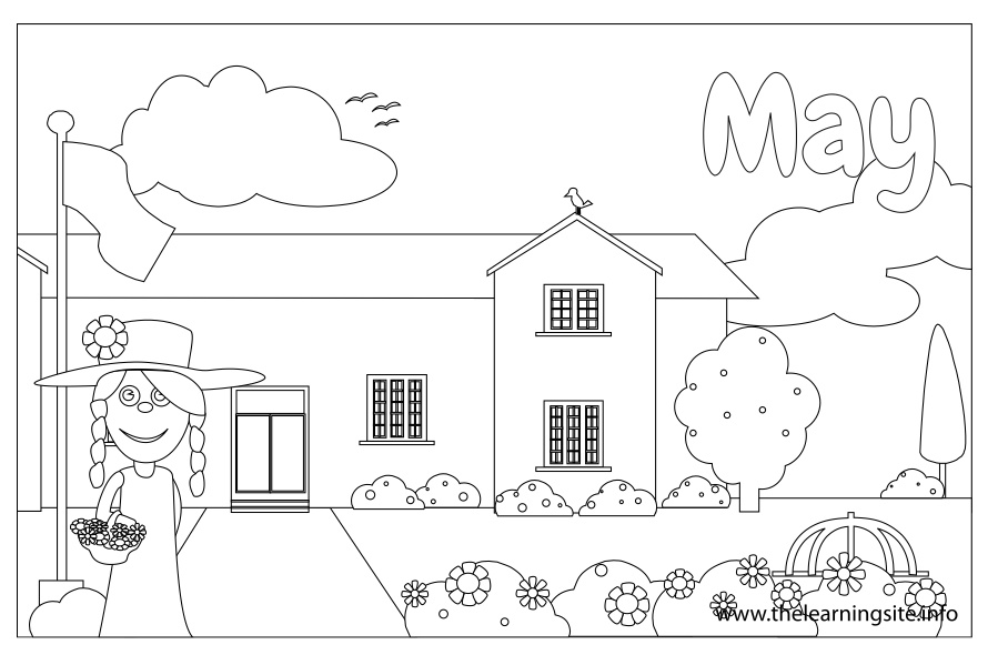 coloring-page-outline-months-may