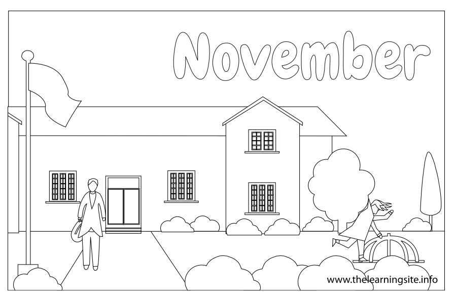 The learning site for Coloring pages for november