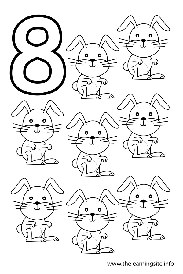 number 8 outline Colouring Pages