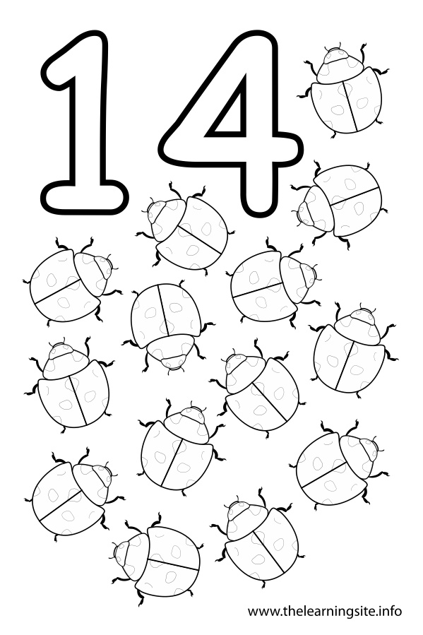 Printable Coloring Numbers : Free number outline coloring pages
