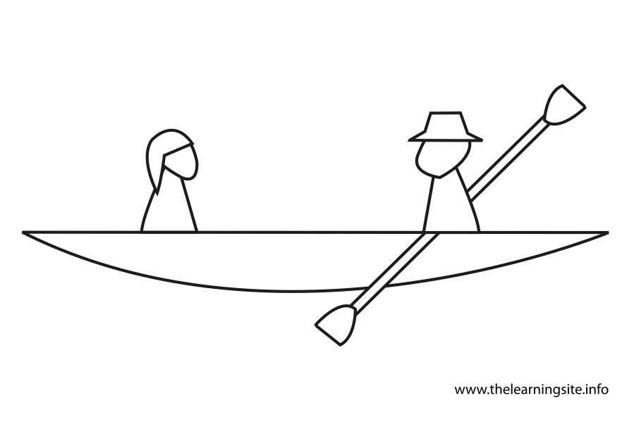 coloring-page-outline-two-people-in-a-canoe
