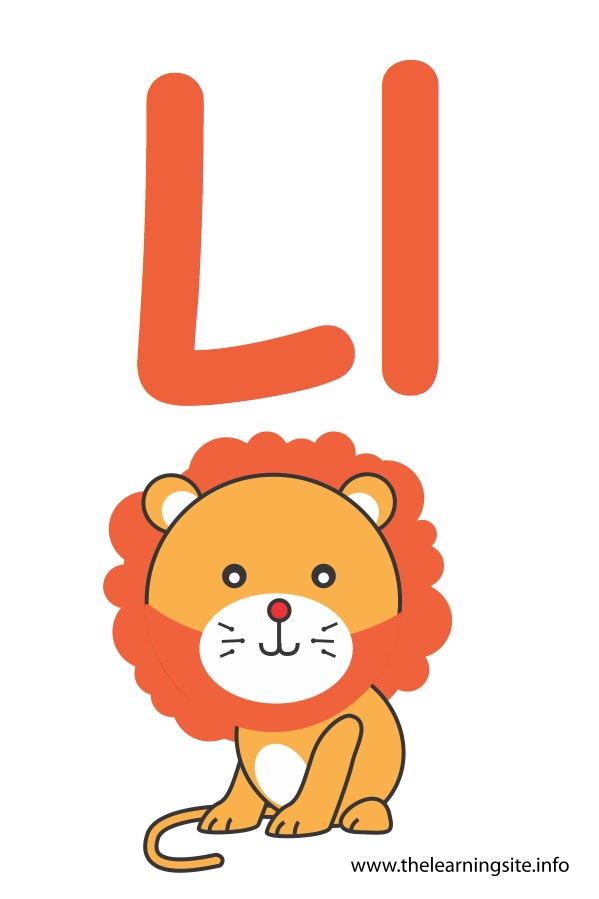 flashcard-alphabet-letter-l-lion
