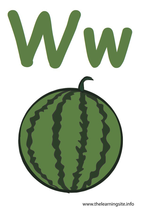 flashcard-alphabet-letter-w-watermelon