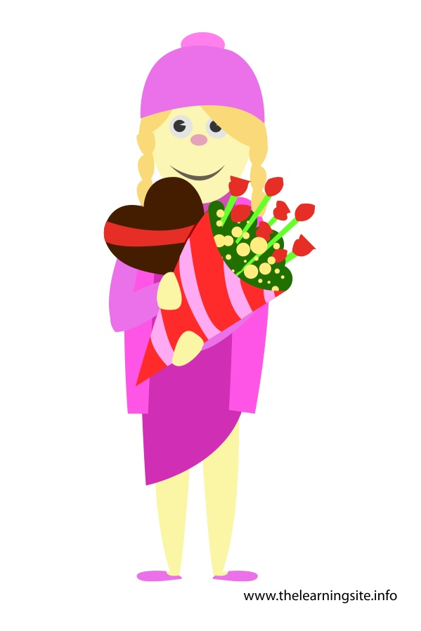 flashcard-girl-with-chocolate-heart-and-bouqet-of-flowers