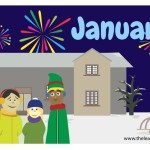 flashcard-months-january