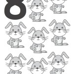 flashcard-number-eight-rabbits