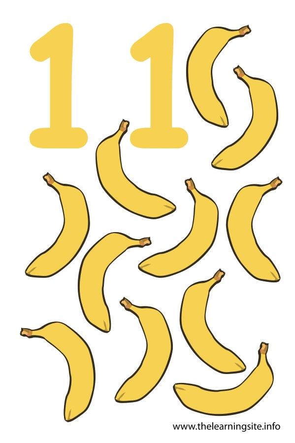flashcard-number-eleven-bananas