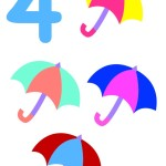flashcard-number-four-umbrellas