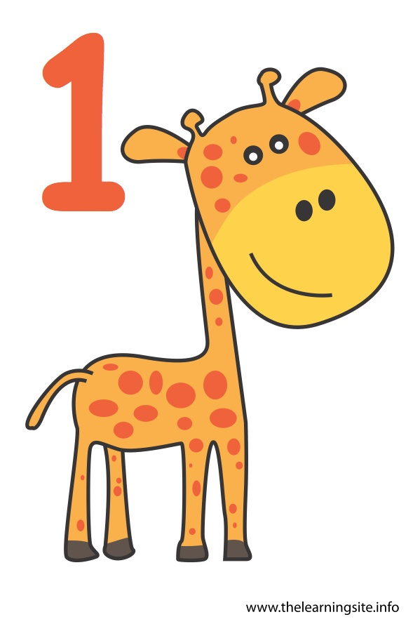flashcard-number-one-giraffe