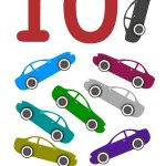 flashcard-number-ten-cars
