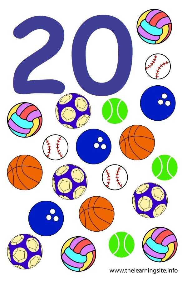 flashcard-number-twenty-balls